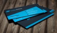 تصميم 3 اشكال لبطاقة عمل Business card خلال يوم واحد