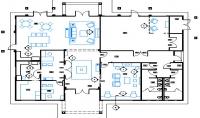 تصميم مسقط معماري لأي مبنى سكني