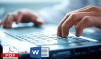 كتابة أى بيانات أو ملف pdf على microsoft word