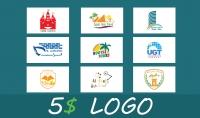تصميم لوجو شعار بطلب العميل و ملف مفتوح المصدر للتعديل بدون مصاريف إضافية بـ 5 $
