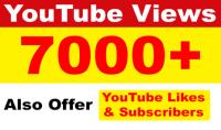 7000 : 7500 مشاهدة عالية الجودة لاى فيديو على اليوتيوب