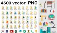 أقدم لك تجميعة لأكثر من4500 صورة فيكتور PNG تساعدك في أعمالك وتصاميمك