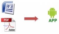 تحويل 5 ملفات وورد أو 5 ملفات PDF إلى تطبيق أندرويد