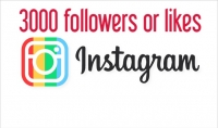 اضافة 3000 متابع او لايك لحسابك بالانستغرام