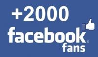 اضافة 2000 فيس بوك لايك حقيقى