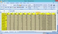 ادخال البيانات وعمل جداول على برنامج EXCEL