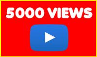 5000 مشاهدة للفيديو على يوتوب