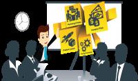 تصميم presentation للطلاب ورجال الاعمال لتقديم المشارع الخاصه بهم باحدث البرامج