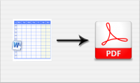تحويل ملفات الوورد خاصة التي تحتوي على جداول إلى Pdf باحتراف