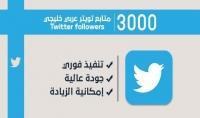 3000 متابع خليجي لتويتر حقيقيين 100% ومتفاعلين