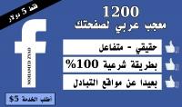 اجلب لك 1200 معجب عربي مستهدف لصفحتك علي الفيسبوك