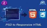 تحويل ملف psd الى قالب html5 محترف