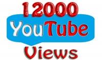 احصل على 12.000 مشاهدة حقيقية وامنة فائقة السرعة