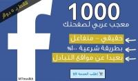 اجلب لك 1000 معجب عربي مستهدف لصفحتك علي الفيسبوك بـ5$ فقط