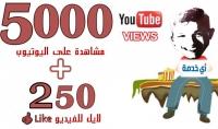 مشاهدة عالية الجودة لفيديوهاتك على اليوتيوب 250 لايك