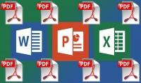 اعداد ملف pdf من تحويل ودمج وتقسيم وتدوير وترقيم