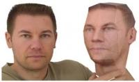 نموذج ملون لوجهك 3D ثلاثي الابعاد