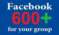 اضافة 600 عضو الى الجروبات فيس بوك فقط 5$