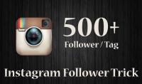 أكثر من 500 متابع على الانستغرام مضمونين 100 %.