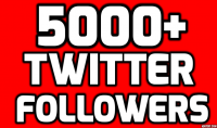 5000 متابع حقيقي من جميع الدول في تويتر خلال يوم واحد = حقق حلمك
