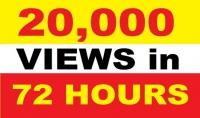اضافة 20.000 مشاهدة حقيقية لاى فيديو على اليوتيوب