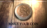 وضع صورتك او شعارك على قطعة نقدية ورقيه دولاريه