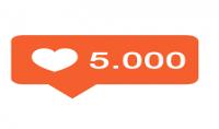 5000 لايك مقسمة على 5 صور بالانستقرام