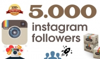 اضافة 5000 متتبع على Instagram