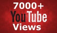 7000 مشاهدة يوتيوب حقيقة 100%   5$ فقط