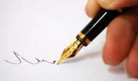 كتابة اي نص باليد