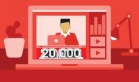 20.000 ألف مشاهدة يوتيوب  آمنة فقط 5$
