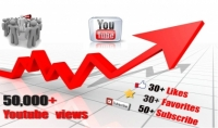 باضافة 25000 الف مشاهدة لليوتيوب و 150 لايك