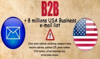 لائحة 8 مليون بريد إلكتروني أمريكي B2B