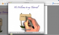 صناعة فيديو الكتابة باليد