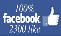 2300 لايك عربي حقيقيين لصفحتك على الفيسبوك