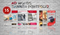 بتصميم بنرات اعلانية للويب او جوجل ادوردز بالمقاسات التي تريديها