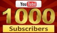 1000 مشترك حقيقي على قناتك يوتيوب ب 25 دولار فقط