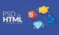 تحويل اى psd ال HTML5  Css3  Bootstrap  Jquery  Javascript
