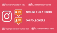 500 متابع خليجي للإنستغرام 100 لايك لصورة سريعة