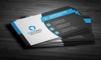 تصميم 5 بطاقات عمل Business Card باشكال والوان مختلفة عصرية وحسب الطلب