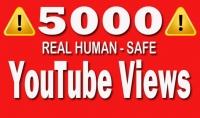 اضافة 5000 مشاهدة حقيقية على اليوتيوب