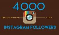4000 متابع اجنبى فى الانستقرام فى اقل من 24 ساعة ضمان عدم النقصان لمدة 30 يوم