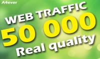 50000 زائر حقيقي لموقعك من محركات البحت و مواقع التواصل الاجتماعي
