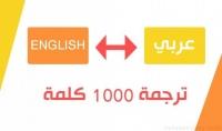 ترجمة 1000 كلمه من العربيه الي الانجليزيه او العكس في اسرع وقت واقل سعر