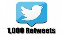 اعطيك 1000 ريتويت او 1000 تفضيل اجنبى لتغريدتك على تويتر مقابل 5 $ |