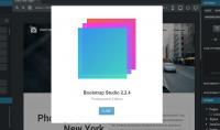 تأمين البرنامج الأروع لتصميم المواقع والمدونات بدون كتابة الأكواد Bootstrap Studio 2.2.4