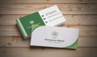 تصميم بطاقة اعمال بوجهين قابل للطباعة