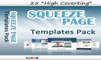 أقدم لك 25 قالب محترف للـ Squeeze Page بدقة عالية وإحترافية