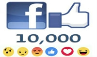 10 000الف لايك لمنشورك على الفيسبوك سريع جدا