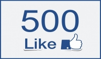 500معجب لصفحتك علي الفيس بوك
